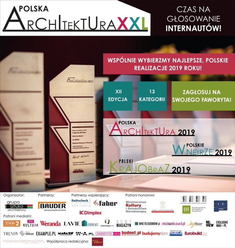 Wybierz najlepszą realizację 2019 - plebiscyt Polska Architektura XXL