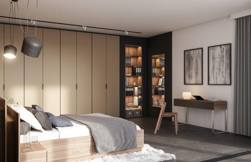 3 sposoby na kącik biurowy w sypialni - rozwiązania Komandor