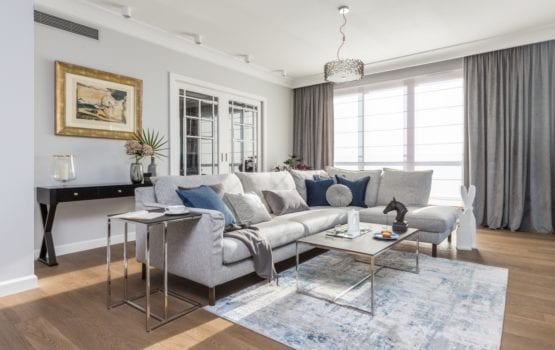 Apartament w stylu Hamptons projektu Decoroom