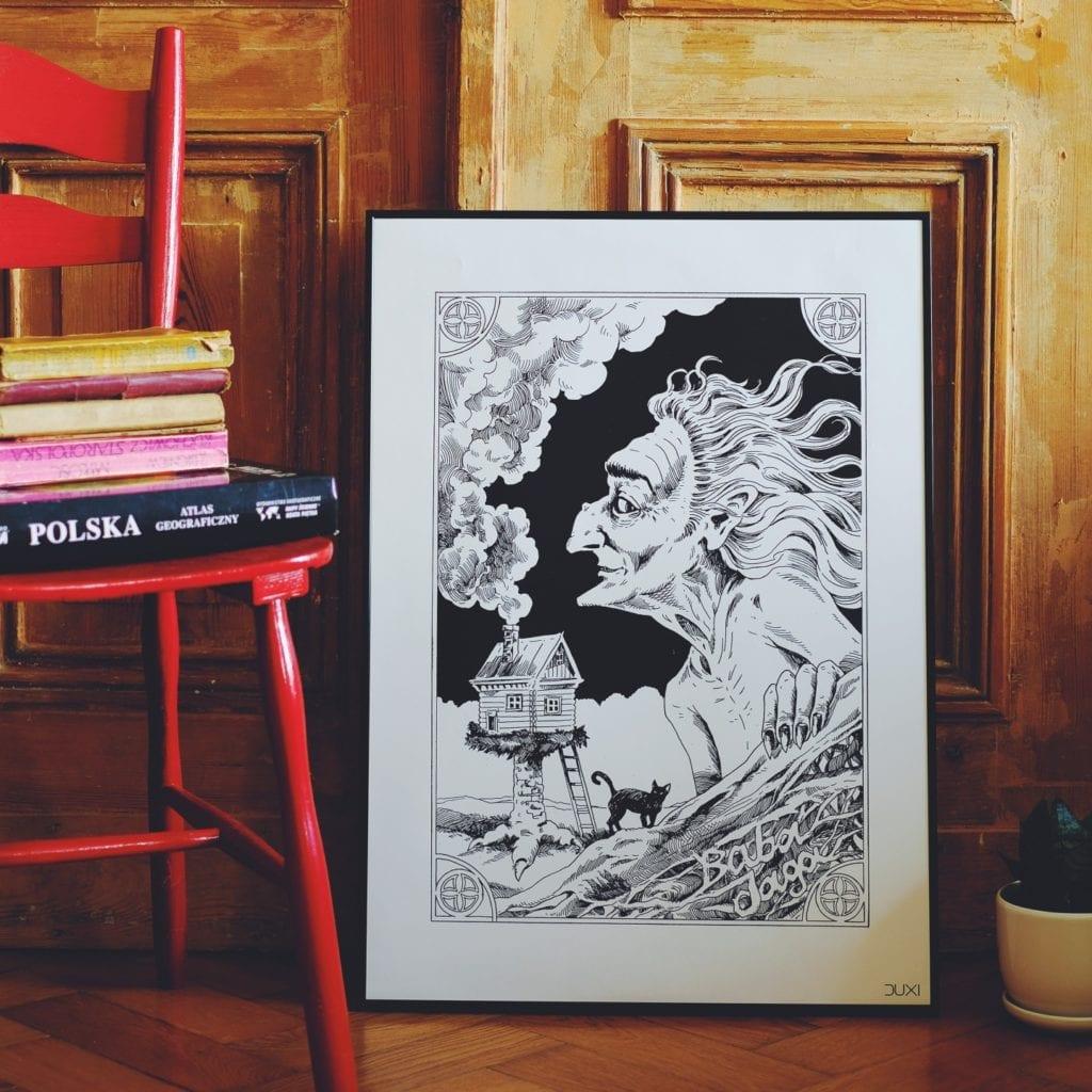 Duxi – polska pracownia, która wyznacza kierunek - Plakat Baba Jaga