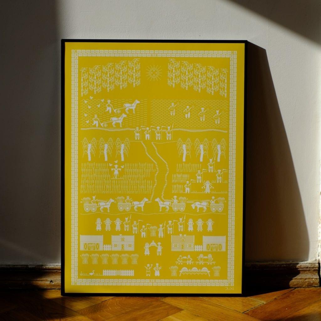 Duxi – polska pracownia, która wyznacza kierunek - Plakat Dożynki żółte