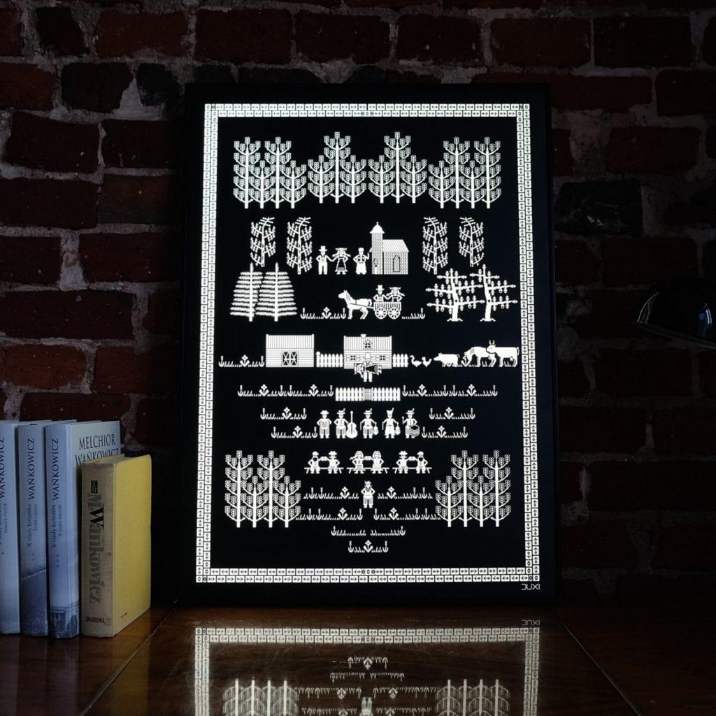 Duxi – polska pracownia, która wyznacza kierunek - Grafika podświetlana Ślub