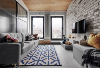Krakowski apartament od pracowni bukaDesign