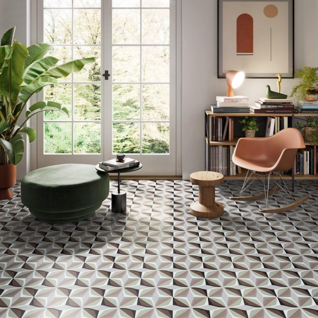 Płytki ceramiczne w salonie - pomysły, inspiracje - Płytki ceramiczne na salonach, czyli kiedy sprawdzą się w aranżacji pokoju dziennego