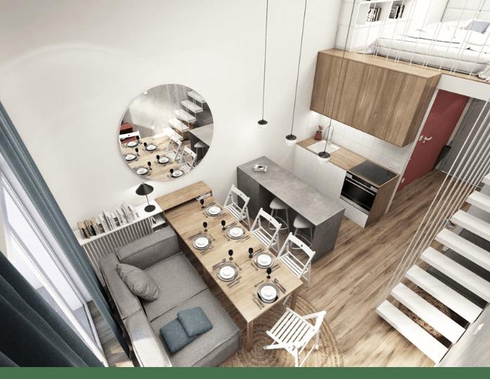 Poznaj sprytne sposoby na salon z aneksem kuchennym - projekt Julia Wilczyńska