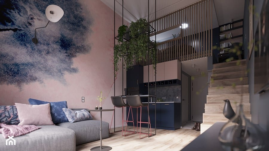 Poznaj sprytne sposoby na salon z aneksem kuchennym - projekt Poco Design