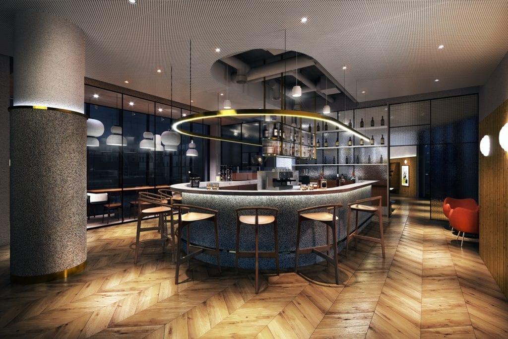 Qubus Hotel Katowice projektu pracowni MIXD - bar