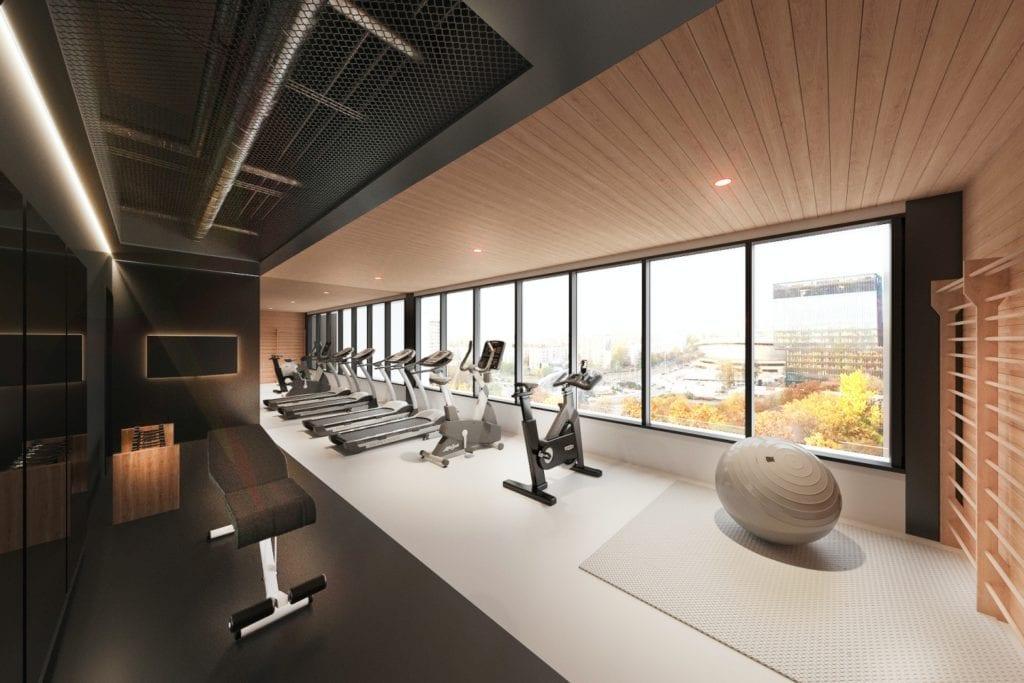 Qubus Hotel Katowice projektu pracowni MIXD - Fitness