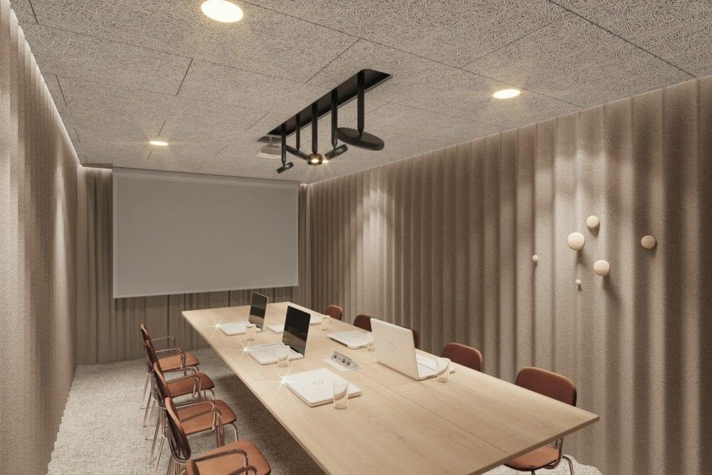 Qubus Hotel Katowice projektu pracowni MIXD - Sala konferencyjna