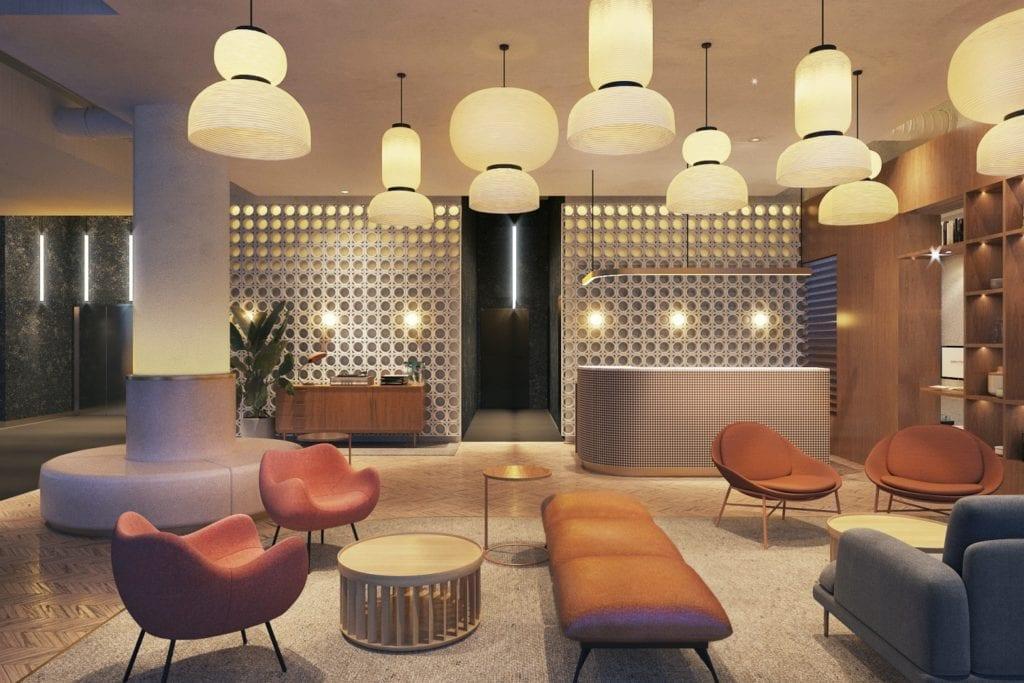 Qubus Hotel Katowice projektu pracowni MIXD - Lobby