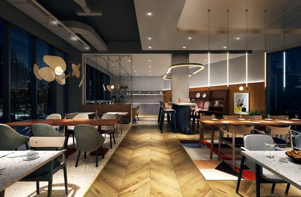 Qubus Hotel Katowice projektu pracowni MIXD - Restauracja