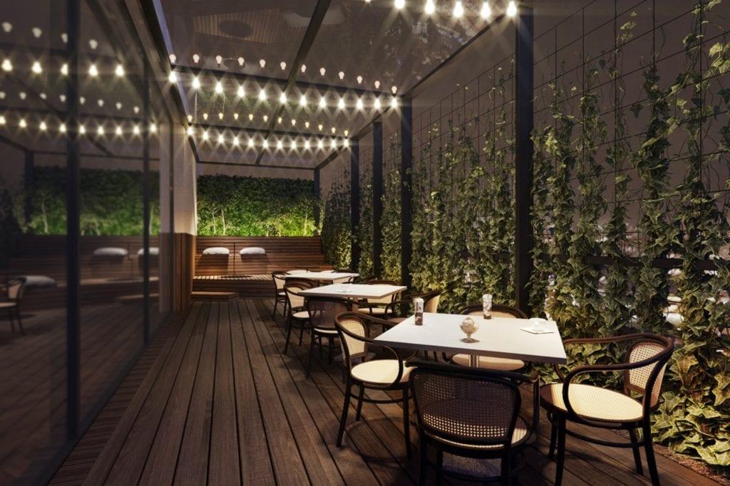 Qubus Hotel Katowice projektu pracowni MIXD - Taras
