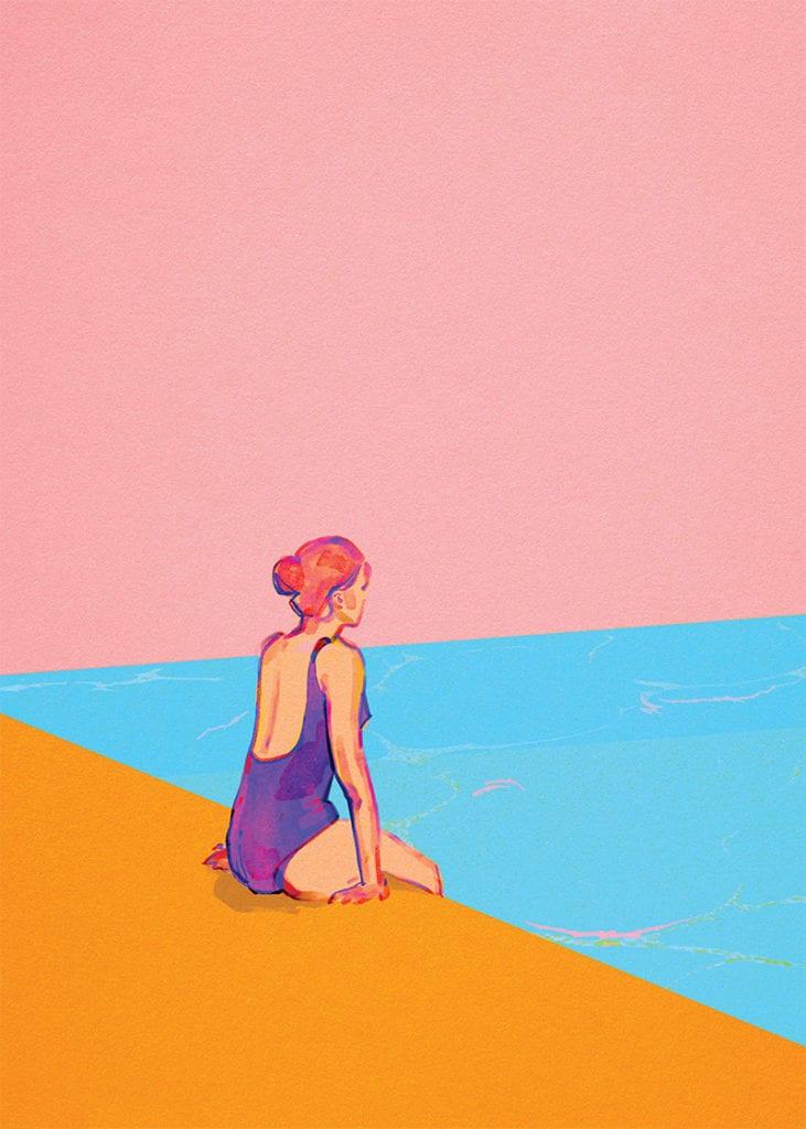 Świętujemy 5. urodziny wall-being - plakat Magdalena Pankiewicz Nad basenem