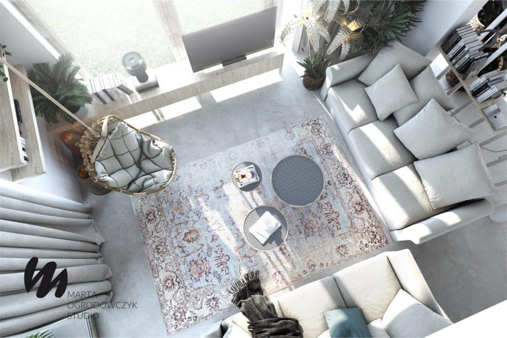Ciepłe wnętrze w stylu boho projektu Marta Ogrodowczyk Studio