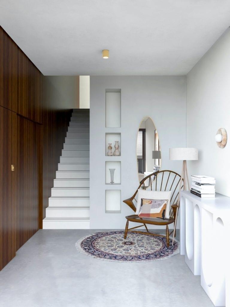 IN studio projektowe i wnętrza domu jednorodzinnego - chody prowadzące na piętro