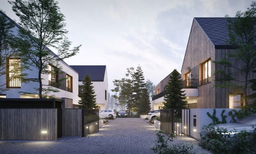 Zendo Wilanów - osiedle unikatowych domów projektu Grupa Plus Architekci