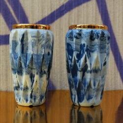 Wazon Mosko Ceramics model Krisstal w kolorze biało niebieskim z porcelany