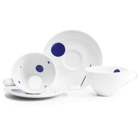 Filiżanki Wzorowe Towarzystwo model Walentyna w kolorze białym z porcelany
