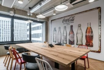 Biuro Coca Cola HBC projektu Bit Creative