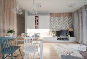 Mieszkanie projektu Design me too – relaks z miętą i różem w tle