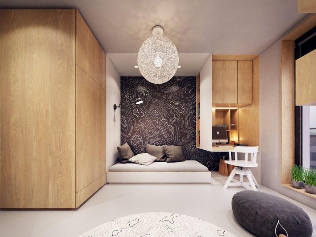 Komfortowa przestrzeń w jasnej kolorystyce od pracowni ZARYSY