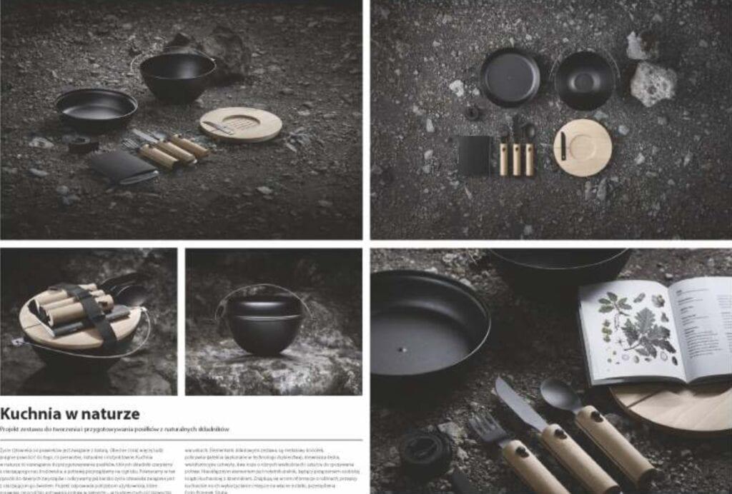 Kuchnia w naturze. Projekt zestawu naczyń do tworzenia i przygotowania posiłków - Marianna Konieczna