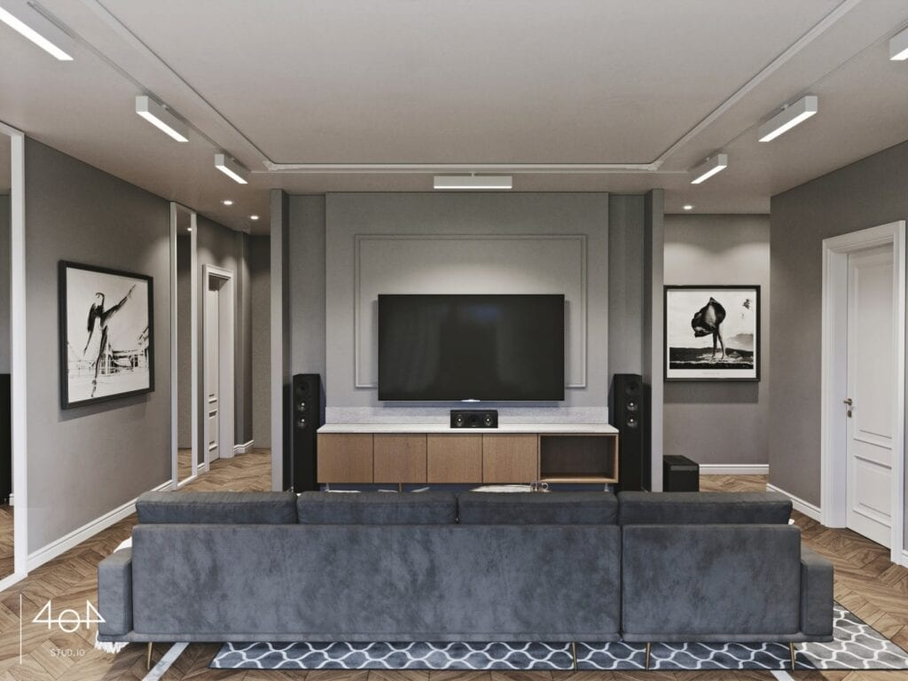 Projekt Vent - Wnętrza domu jednorodzinnego w Ełku projektu 404 Stud.io - Aleksandra Franczak