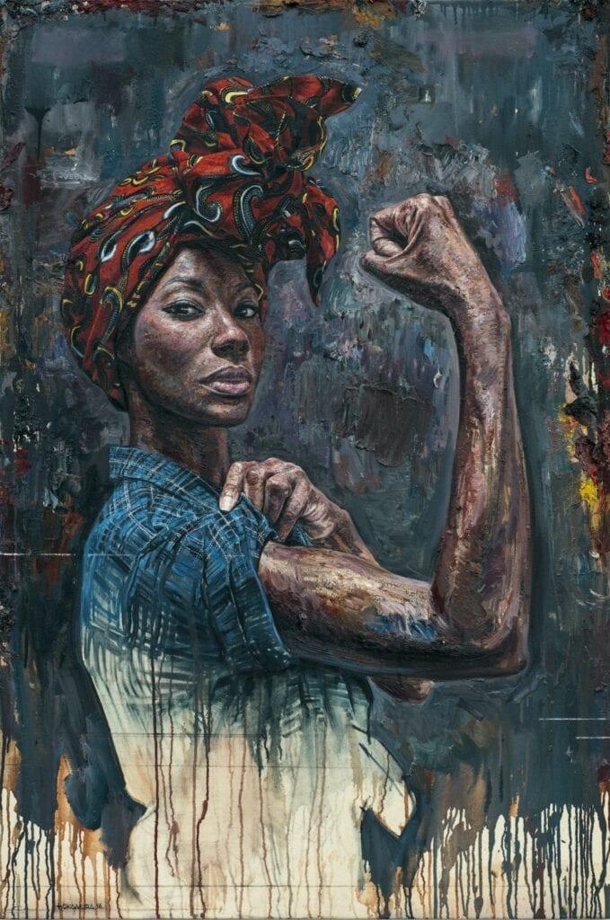 Tim Okamura i olejne obrazy przedstawiające kobiecą siłę - GIRL – ILLA WARFAIR