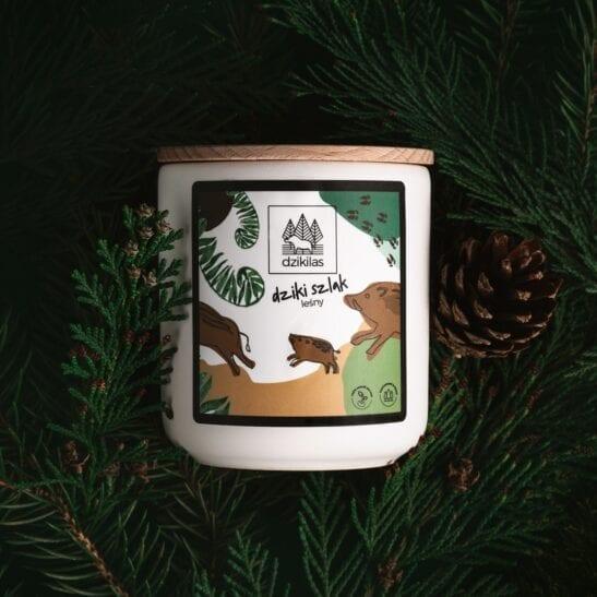 Świeca zapachowa - dziki szlak - marka dziki las