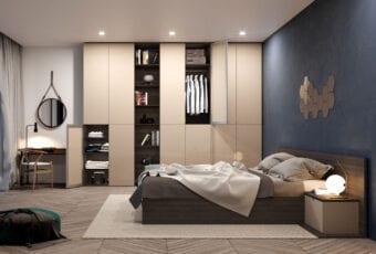 Aranżacja sypialni okiem architektów – z garderobą czy szafą na wymiar?