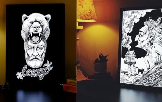 Grafika podświetlana – autorski projekt od pracowni DUXI