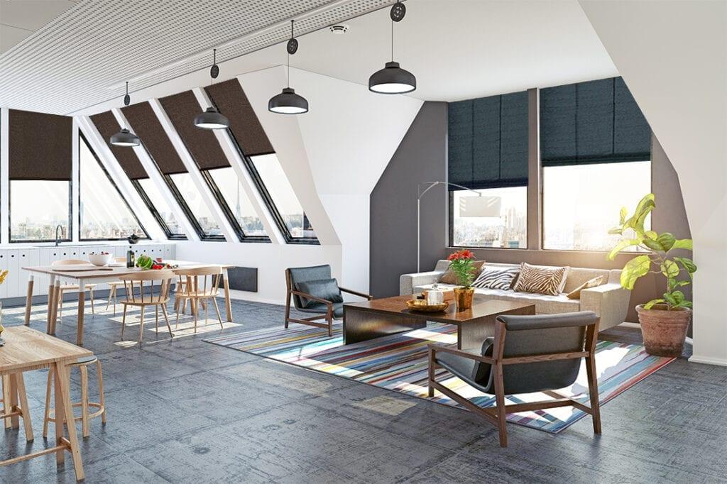 Klimat poddasza – aranżacje okien dachowych