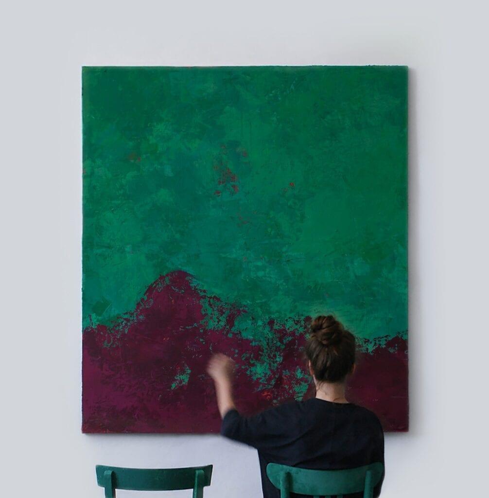 Obraz z dwoma krzesłami - Marta Tańcula Painting