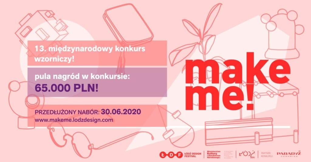 Projektanci poszukiwani, czyli konkurs make me 2020 - Łódź Design Festival