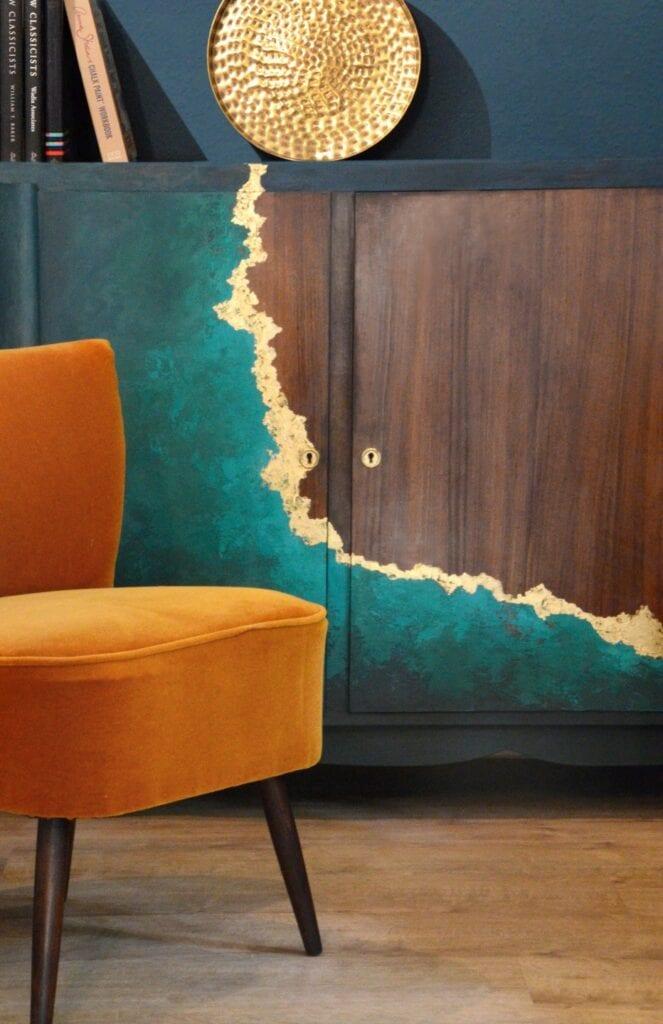 Stylizowana komoda z lat 60-tych - Marta Tańcula Painting