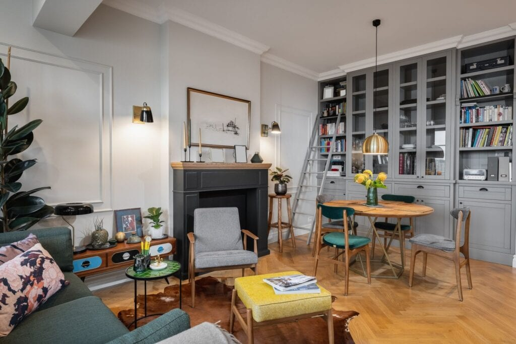 WZ Studio i projekt 70-metrowego mieszkania w Warszawie - projekt Małgorzaty Liebhart i Ady Skwiry