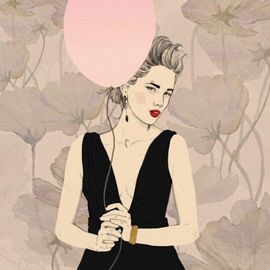 Plakat Magdalena Pankiewicz model Fashion II w kolorze różowym wykonany na papierze fotograficznym