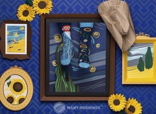 Skarpety Many Mornings model True Vincent w kolorze granatowym wykonane z bawełny