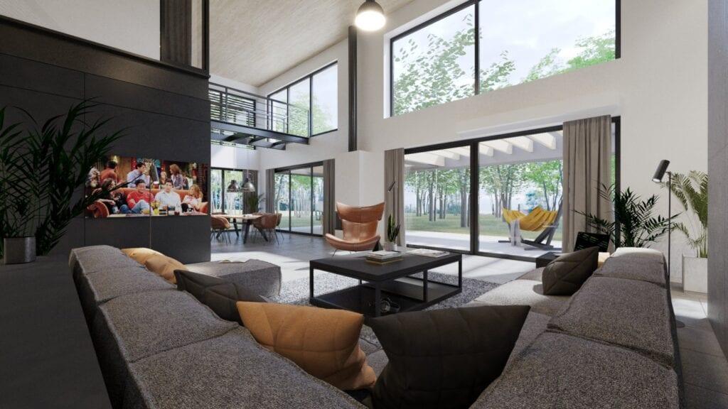Dom z motocyklem projektu 3XB Architekci - Filip Banach