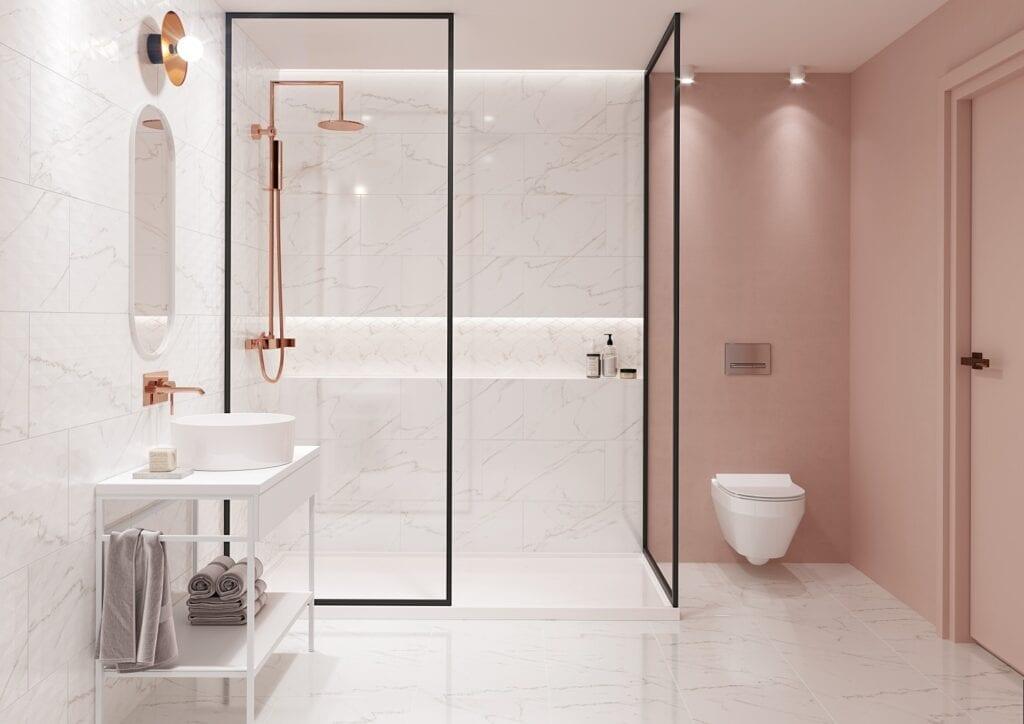 Łazienka w stylu glamour - porady od marki Cersanit - Stay Classy