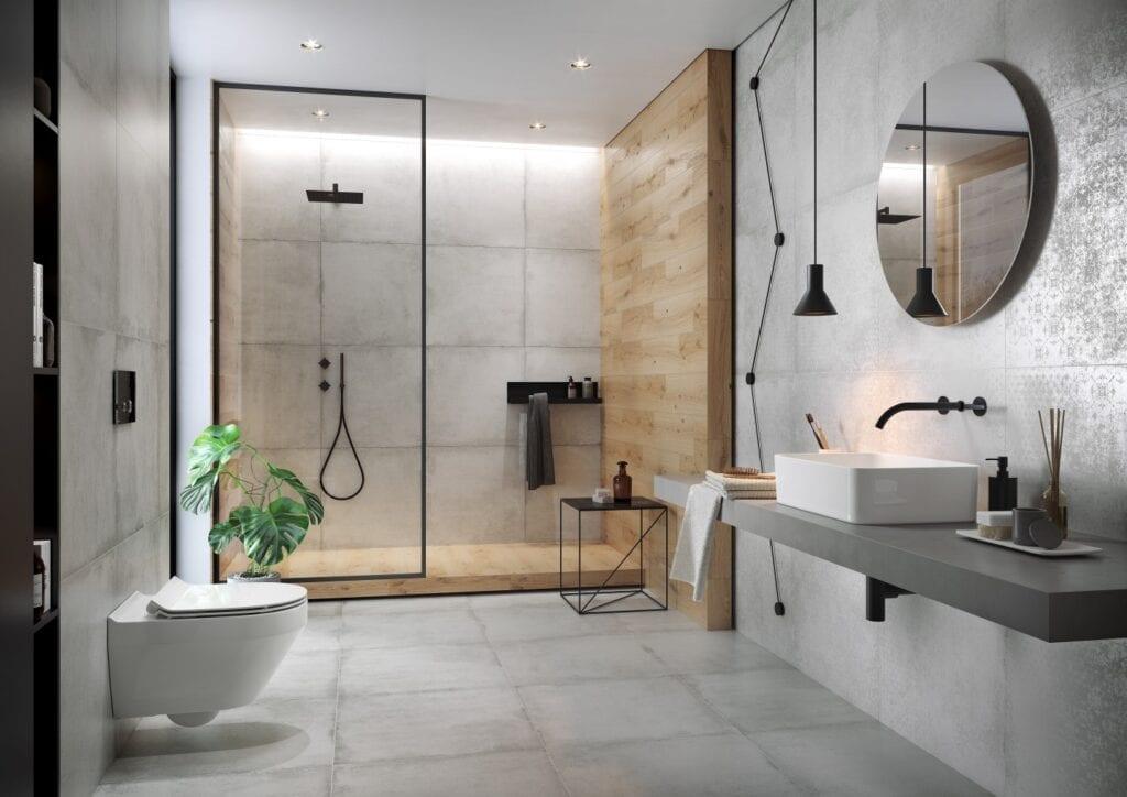 Łazienka w stylu glamour - porady od marki Cersanit - Stormy