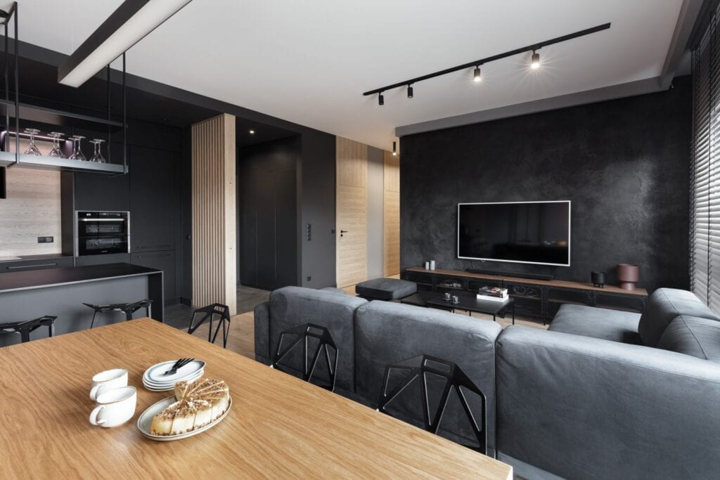 Pencil black apartament projektu pracowni 2form - Anna Gostomczyk - foto Norbert Banaszyk