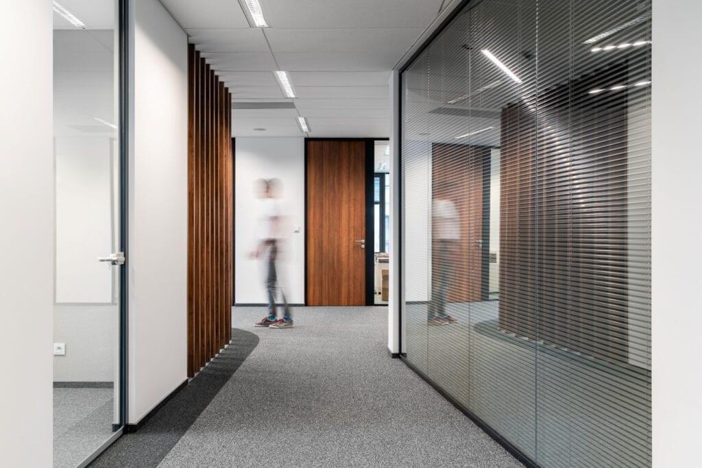 Wnętrze biura firmy Noerr projektu BIT CREATIVE