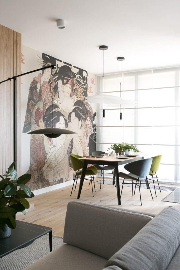 Z miłości do Japonii – piękne mieszkanie w Krakowie od MIKOŁAJSKAstudio - zdjęcia Jakub Dziedzic (Wnętrza Kraków)