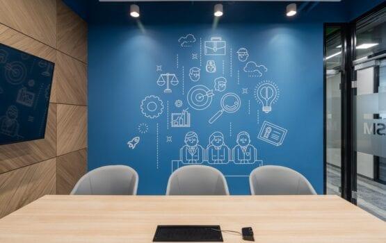 Industrialne wnętrze biura RSM Poland projektu Bit Creative