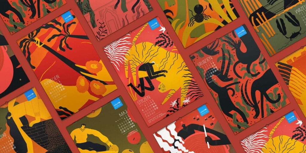 "Kalendarz ""LEGENDY"" projektu TOFU Studio z nagrodą RED DOT Award"