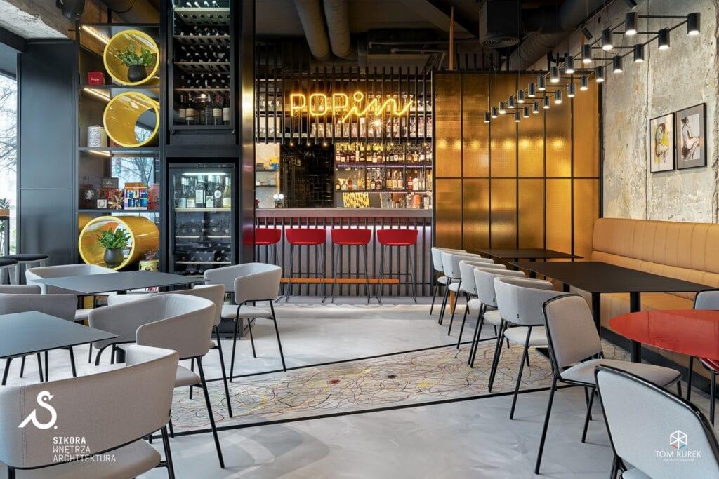 POP in - Diner & Bar - zabawa sztuką - projekt Sikora Wnętrza - zdjęcia: Tom Kurek