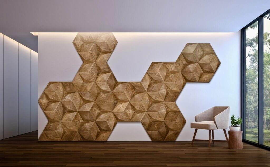 Drewniane moduły 3D od Nobifloor