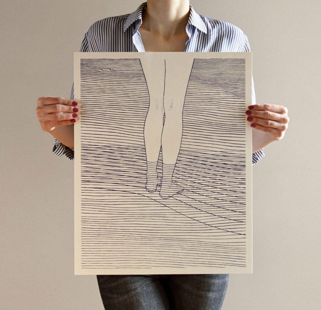 Bartosz Kosowski - plakat Girl and the Sea