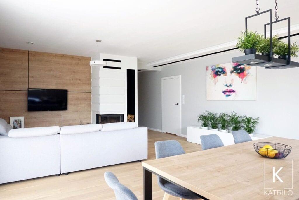 Wnętrza domu w stylu skandynawskim - Katrilo Katarzyna Choińska Projektowanie wnętrz